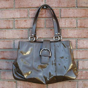 Coach Patent Leather Tote w/Dust Bag